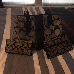 Coach handbag set